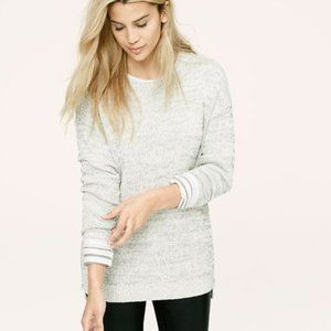 Lou and Grey Side Zip Tunic Knit Sweater Size S